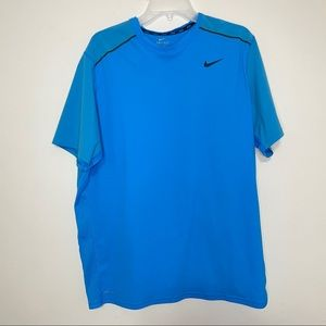 Nike dri-fit crew neck blue vented tee athletic
